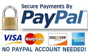 pay with paypal, credit cards, debit cards